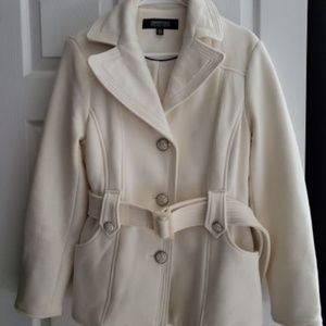 Kenneth Cole Reaction belted mid weight jacket